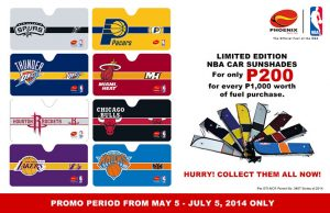 Collect limited edition NBA Playoffs car sunshades at Phoenix Gas Stations