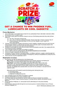 Win cool gadgets with Phoenix Petroleum's Scratch-A-Prize Promo