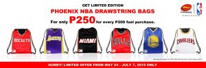Gear up with limited edition NBA jersey drawstring bags at Phoenix Petroleum