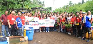 Phoenix Petroleum plants more than 3000 seedlings Mindanao
