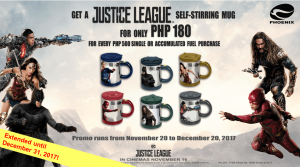 Phoenix Petroleum Justice League self-stirring mugs promo extended
