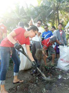 Phoenix participates in Coastal clean up at Bgry. Punta Taytay, Bacolod