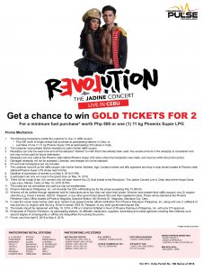 JaDine promo poster Cebu - Get a Chance to Win GOLD TICKETS for 2 - Mechanics