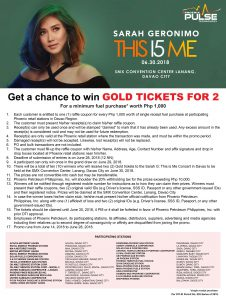 Phoenix Fuels + Sarah Geronimo - Get a Chance to Win Tickets!