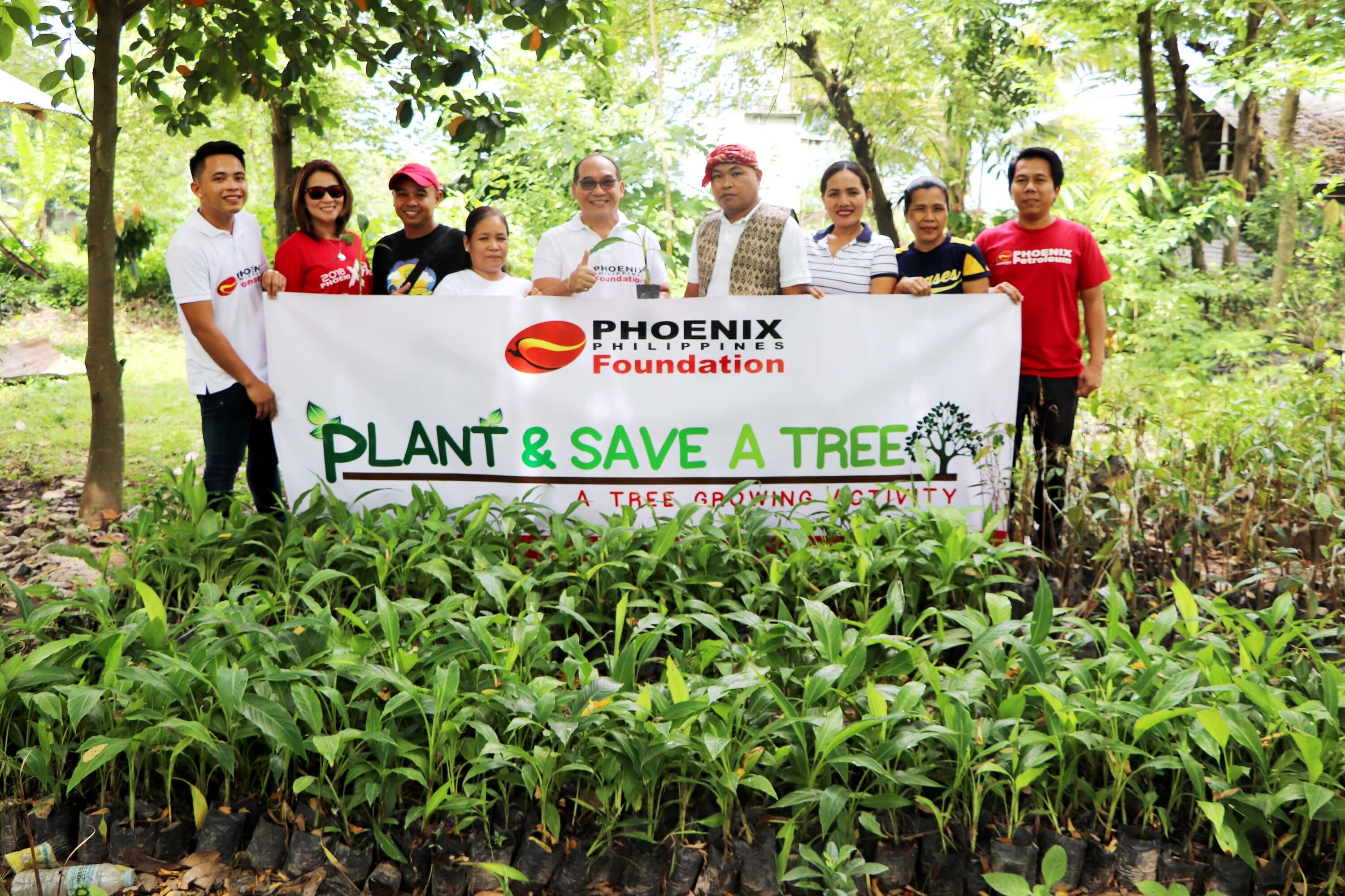 Phoenix Petroleum plants trees in Koronadal, South Cotabato