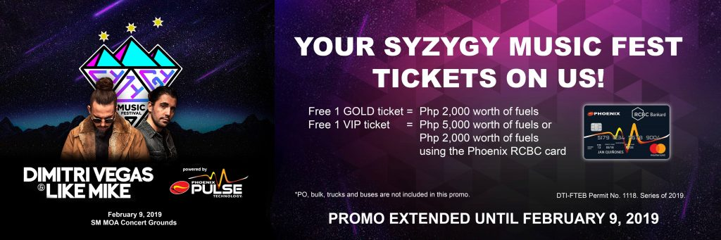 Syzygy Music Festival promo extended until February 9