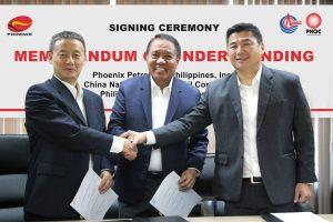 Phoenix Petroleum, CNOOC, PNOC sign MOU for LNG project