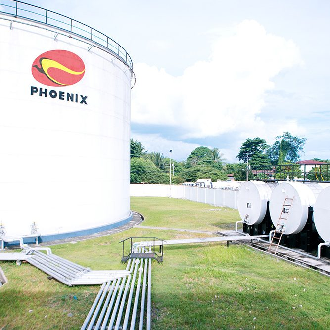 Phoenix Petroleum tanks in one of its depots